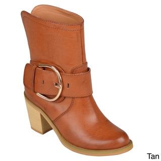 Hailey Jeans Co. Womens 'Tiahna' Buckle High Heel Boots