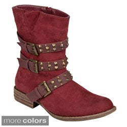 Hailey Jeans Co Womens 'Tate' Studded Buckle Detail Boots