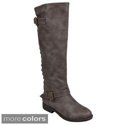 Journee Collection Women's 'Spokane' Studded Buckle Detail Boots