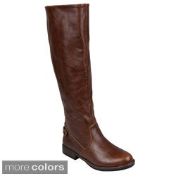 Journee Collection Womens 'Lynn' 2-Way Stretch Round Toe Boots