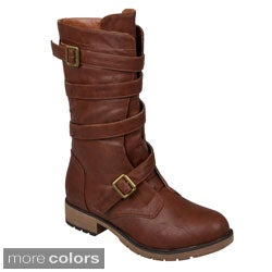 Hailey Jeans Co. Women's 'Jennica' Round Toe Buckle Detail Boots