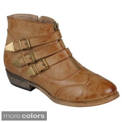 Journee Collection Womens 'Host' Buckle Ankle Boots