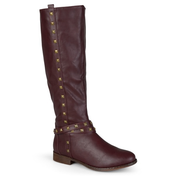 Journee Collection Women's 'Chillum' Knee-High Studded Riding Boots