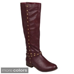 Journee Collection Women's 'Chillum' Studded Round Toe Boots