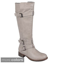 Journee Collection Women's 'Bite' Tall Buckle Detail Boots