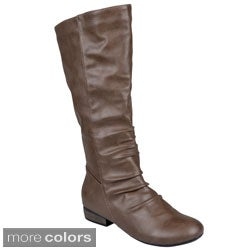 Journee Collection Womens 'Arlington' Faux Leather Tall Boots