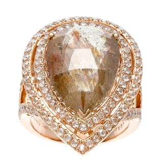 Neda Behnam DFAC 18k Rose Gold 12 3/4ct TDW Diamond Ring (H-I, SI1-SI2)