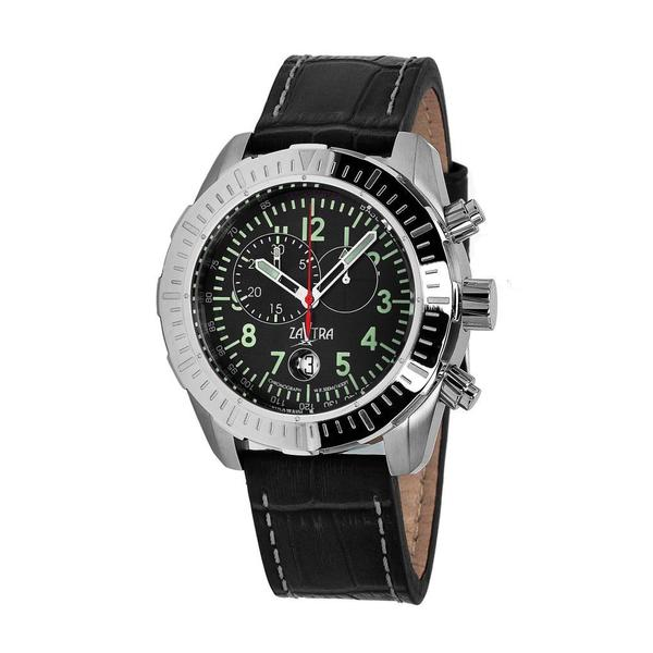 Zavtra Men's 'T-37 8171 Air to Ground Chrono Edition' Black Dial Watch
