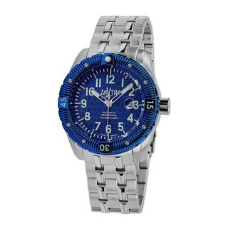 Zavtra Men's 'T-37 9015 Sea to Land Automatic LE' Blue Dial Watch