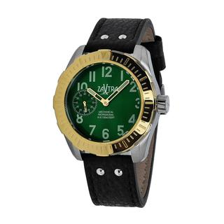 Zavtra Men's 'T-37 3600 Air to Ground Mechanical Edition' Green Dial Watch