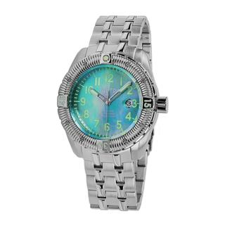 Zavtra Men's 'T-37 9015 Sea to Land Automatic Edition' Stainless Steel Bracelet Watch