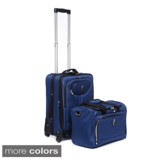 Atlantic 2-piece Expandable Carry-on Spinner Luggage Set