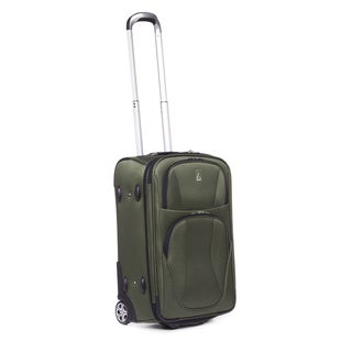 TravelPro Virtuair 22-inch Olive Expandable Carry-on Rollaboard Upright