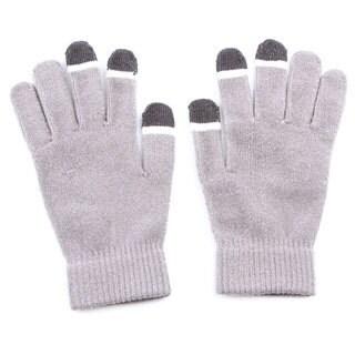Grippem Grey Micro-velvet Touch Screen Gloves