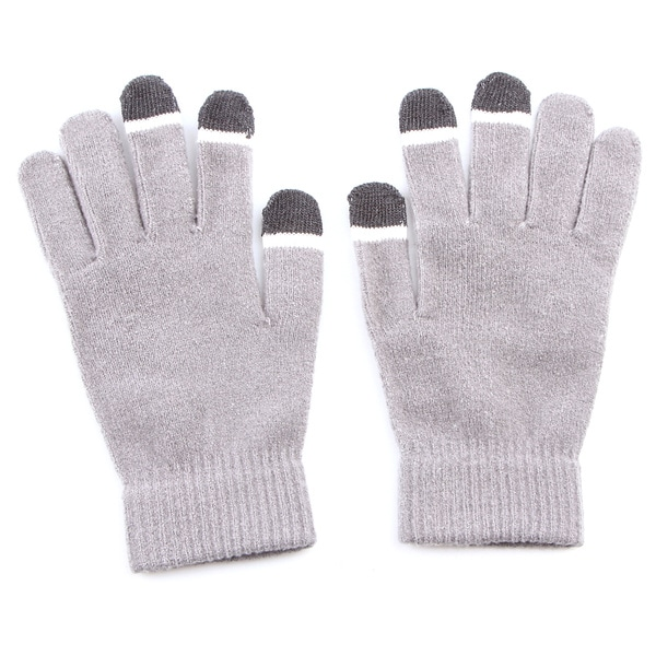 Grippem Grey Micro-velvet Touch Screen Gloves