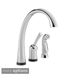 Delta Pilar Single Handle Kitchen Faucet with Touch2O? Technology and Side Spray
