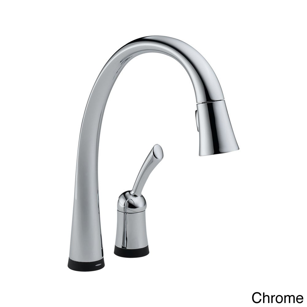 delta pilar single handle pull down kitchen faucet with