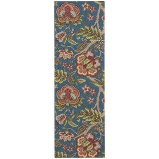 Nourison Waverly Global Awakening Sapphire Runner Rug (2'6 x 8')
