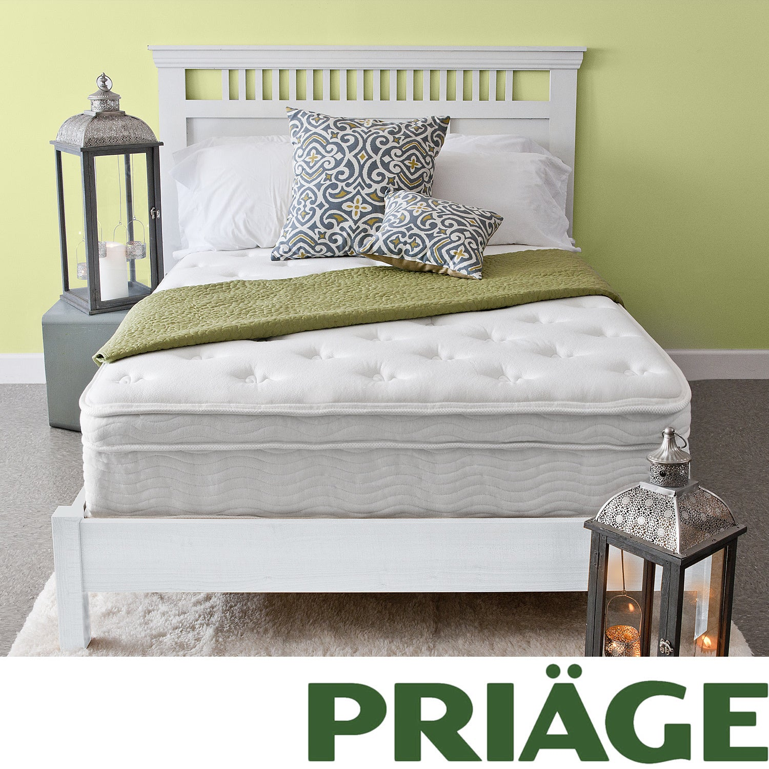 Priage Euro Box Top 13-inch Full-size iCoil Spring Mattress at Sears.com