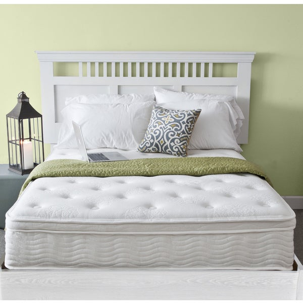 Priage Euro Box Top 12-inch Twin-size iCoil Spring Mattress
