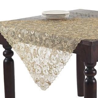 Gold Embroidered Table Linens
