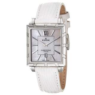 Edox Women's 'Classe Royale' Stainless Steel Swiss Quartz Watch