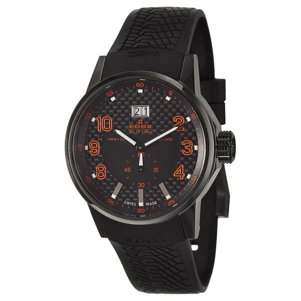 Edox Men's 'WRC' Black PVD-coated Swiss Quartz Watch
