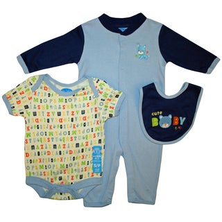 Bon Bebe Blue Bib Set (Set of 3)