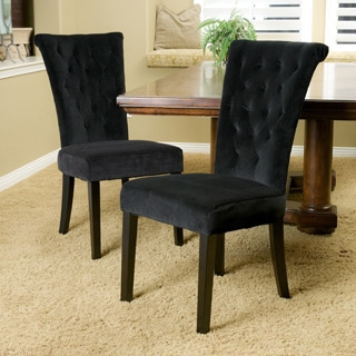 Christopher Knight Home Venetian Black Velvet Dining Chair