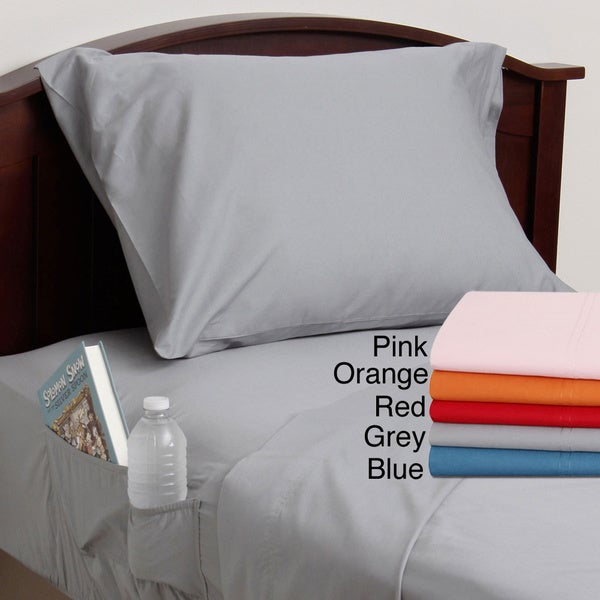 Cotton Percale Side Pocket Sheet Set