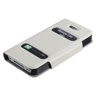 BasAcc White Book-Style MyJacket Wallet Case for Apple iPhone 4/ 4S