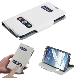 BasAcc White MyJacket Wallet Case for Samsung Galaxy Note II