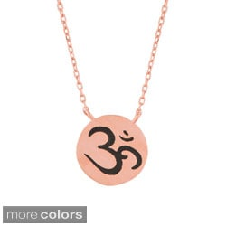 Sterling Silver 'Ohm' Symbol Necklace