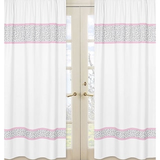 Kenya Pink/Grey 84-inch Curtain Panel Pair
