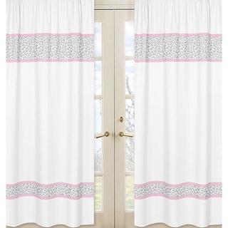 Kenya Pink/Grey 84-inch Curtain Panel Pair