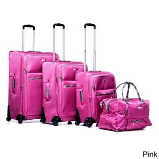 Anne Klein Globetrotter 4-piece Polyester Fashion Spinner Luggage Set
