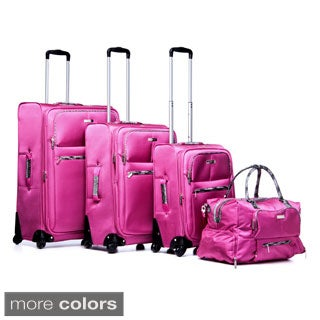 Anne Klein Globetrotter 4-piece Polyester Fashion Spinner Luggage Set