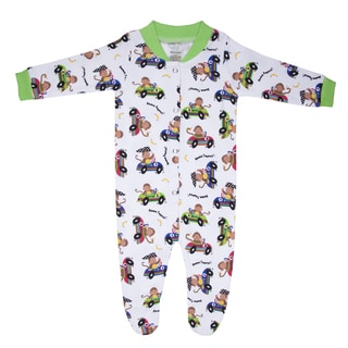 Funkoos Race Car Monkeys Organic Sleep Suit