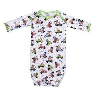 Funkoos Race Car Monkeys Organic Sleep Gown