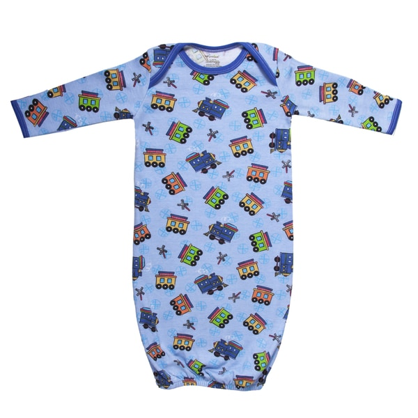 Funkoos All Aboard Trains Organic Sleep Gown