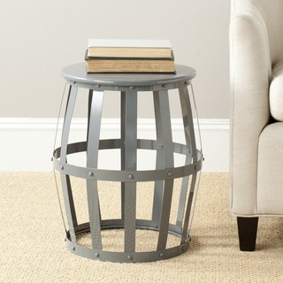 Safavieh Rinaldo Grey Iron Stool