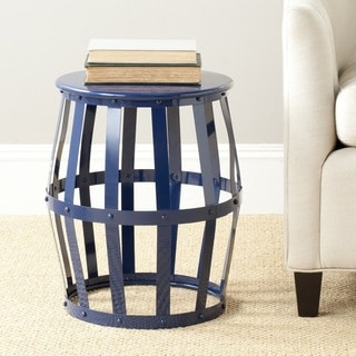 Safavieh Rinaldo Navy Iron Stool