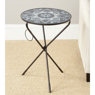 Safavieh Solinus Grey/ White Glass Side Table