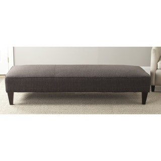 Safavieh Nessa Grey Pinstripe Bench