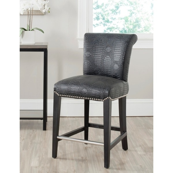 Safavieh Seth Black 25.9-inch Counter Stool