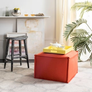 Safavieh Elaine Burnt Orange Ottoman