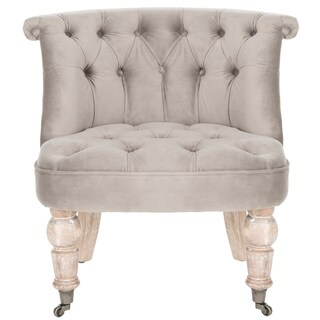 Safavieh Carlin Mushroom Taupe Tufted Chair