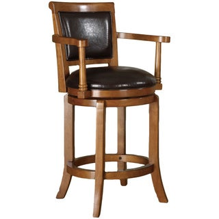 Manchester 24-inch High Swivel Counter Stool in Classic Oak Finish