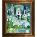 Gustav Klimt 'Church in Cassone' Hand Painted Framed Canvas Art