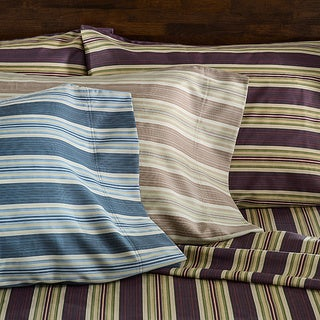 300 Thread Count 100-percent Cotton Lindsey Stripe Sheet Set